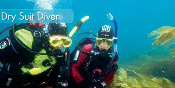 dry suit diver, tørrdrakts kurs på Jæren Dykkersenter i Stavanger