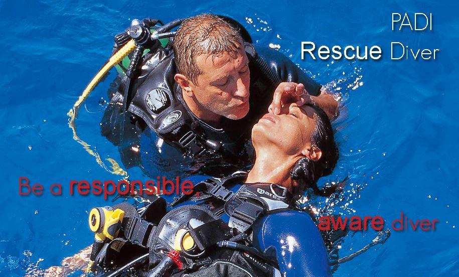 PADI Rescue Diver på Jæren Dykkersenter i Stavanger.